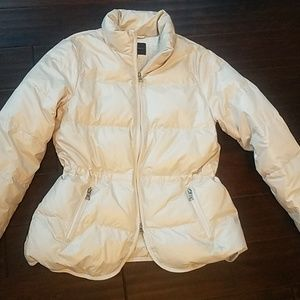 Banana Republic tan puffer jacket